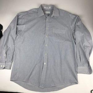 Perry Ellis Portfolio Striped Button-Up Shirt
